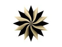 Cirkel iconisch embleem op witte achtergrond Stock Afbeelding