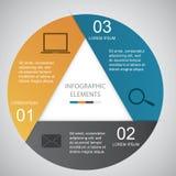 Cirkel Infographic Royaltyfria Foton