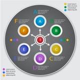 Cirkel infographic malplaatje Genummerde banner Royalty-vrije Stock Foto's