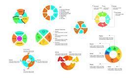 Cirkel infographic voor collectief Stock Fotografie