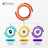 Cirkel Infographics Malplaatje voor diagram Vector illustratie Stock Afbeelding