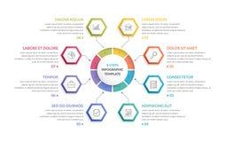 Cirkel Infographics met Zeshoeken vector illustratie