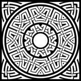 Cirkel Keltisch kader stock illustratie