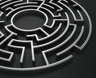 Cirkel labyrint Royalty-vrije Stock Afbeeldingen