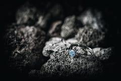 Cirkel med kristaller Arkivbild