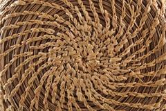 Cirkel met de hand gemaakte mandenmakerij Royalty-vrije Stock Foto's
