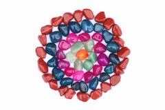 Cirkel met halfedelstenen Stock Afbeelding