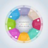 Cirkel moderna Infographic Arkivbild