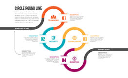 Cirkel om Lijn Infographic Royalty-vrije Stock Fotografie