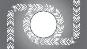 Cirkel om Pijl op Grey Background Royalty-vrije Stock Afbeeldingen