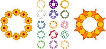 Cirkel ontwerpen royalty-vrije illustratie