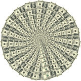 Cirkel ornament 100 dollars Royalty-vrije Stock Foto