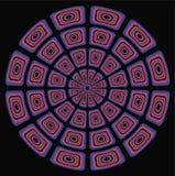 Cirkel Psychedelische achtergrond Stock Afbeeldingen