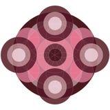 Cirkel purpere mandala Stock Fotografie