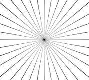 Cirkel radiaal, uitstralend lijnenelement Abstracte stralen, stralen, vector illustratie