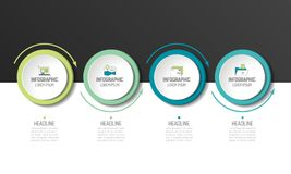 Cirkel, ronde grafiek, regeling, infographic chronologie, Stock Foto's