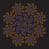 Cirkel sierfractal Royalty-vrije Stock Afbeelding