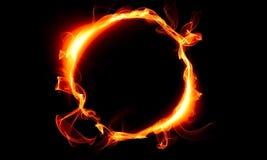 Cirkel som består av en brand Det magiska tinget fantasi Royaltyfri Fotografi