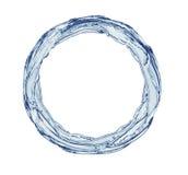 Cirkel som göras från färgstänk Arkivfoto