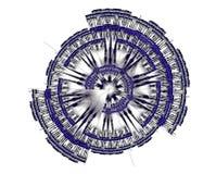 Cirkel technisch fractal stock afbeelding