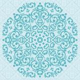 Cirkel turkoois ornamentontwerp Stock Afbeelding