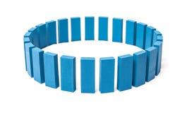 Cirkel ut ur blåa kvarter Royaltyfri Bild