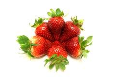 Cirkel van aardbeien stock foto