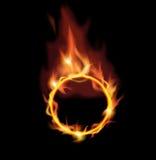 Cirkel van brand. Stock Afbeelding