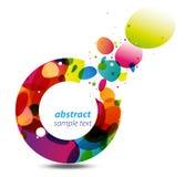 Cirkel van de Achtergrond van Kleuren Stock Afbeelding