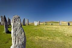Cirkel van de Callanish de bevindende steen, Eiland van Lewis, Schotland, het UK. Stock Afbeeldingen