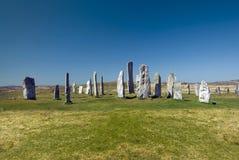 Cirkel van de Callanish de bevindende steen, Eiland van Lewis, Schotland, het UK. Royalty-vrije Stock Afbeeldingen