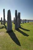Cirkel van de Callanish de bevindende steen, Eiland van Lewis, Schotland, het UK. Royalty-vrije Stock Foto