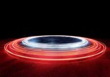Cirkel van de Lichten van de Autosleep Stock Foto