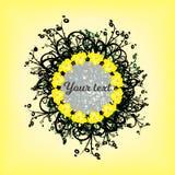 Cirkel van gele patronen als achtergrond Royalty-vrije Stock Foto's