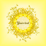 Cirkel van gele patronen als achtergrond stock foto's