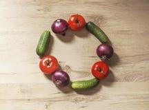 Cirkel van groenten Stock Fotografie