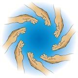 Cirkel van Handen vector illustratie