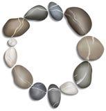 Cirkel van kiezelstenenachtergrond Royalty-vrije Stock Foto's