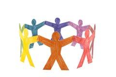 Cirkel van kleurrijke mensen stock afbeeldingen