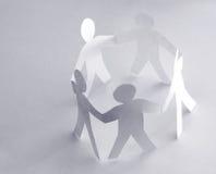 Cirkel van mensen Stock Foto's