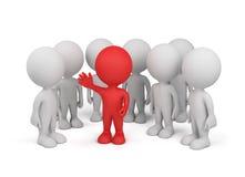 Cirkel van mensen met leider vector illustratie
