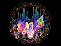 Cirkel van Muziek Stock Foto