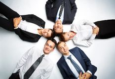 Cirkel van partners Stock Fotografie