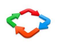 Cirkel van pijlen stock illustratie