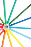 Cirkel van potloden Royalty-vrije Stock Foto's