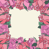 Cirkel van rozen met ruimte voor tekst Royalty-vrije Stock Foto's