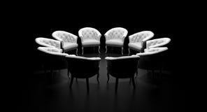Cirkel van stoelen vector illustratie
