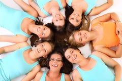 Cirkel van vrienden Royalty-vrije Stock Afbeeldingen
