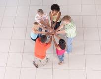 Cirkel van vrienden Royalty-vrije Stock Foto's