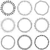 Cirkel vectorborstels Royalty-vrije Stock Afbeeldingen